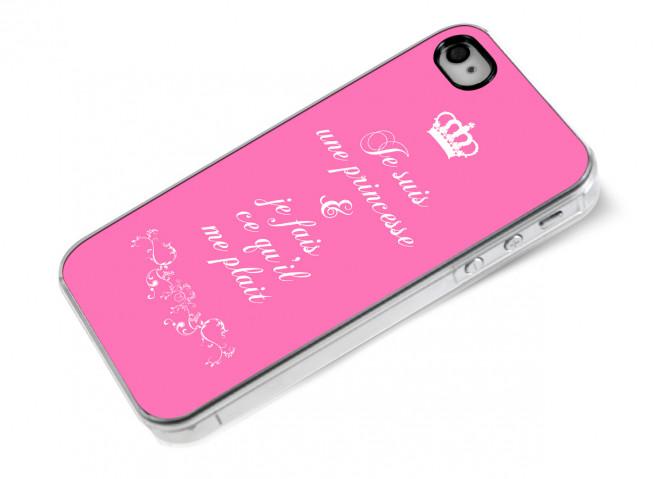 Coque iPhone 4/4S Je suis une princesse