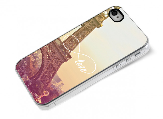 Coque iPhone 4/4S Infinity Love- Paris