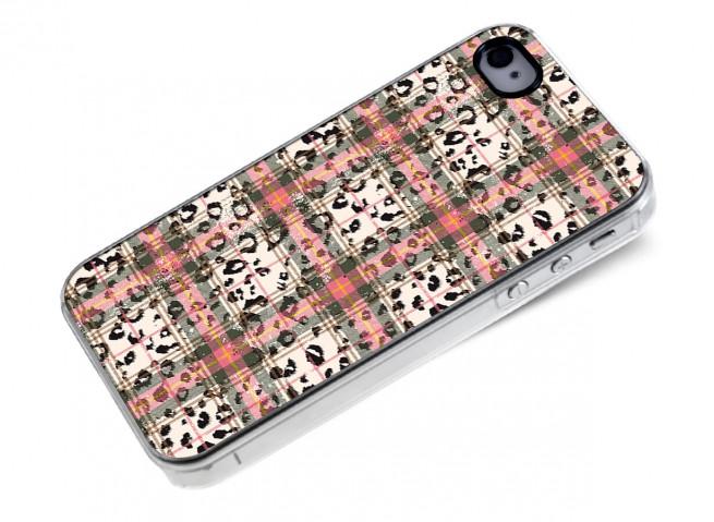 Coque iphone 4/4S Leopard Tartan