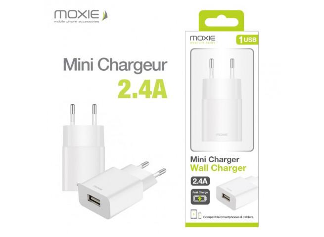 Mini Chargeur Secteur 2.4A sans câble