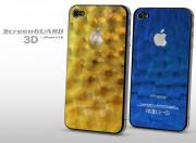 Sticker iPhone 4/4S +Film protecteur assorti Alvéoles