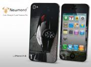 Sticker iPhone 4/4S +Film protecteur assorti Black Car