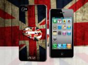 Coque iPhone 4/4S Lips Flag UK