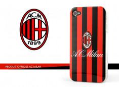 Coque Officielle iPhone 4/4S A.C. Milan - Rouge/Noir