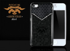 Coque iPhone 4/4S Arrow Strass by Nock-Noir