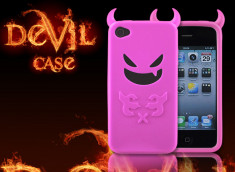 "Coque iPhone 4 ""Devil's Case""-Rose translucide"