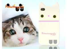 "Kit Coque+film iPhone 4 ""Chaton Kutusitanyanko"" par San-X-écru"