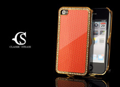 Coque iPhone 4/4S Classic Strass-Rouge