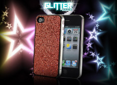 Destockage-Coque iPhone 4 Glitter Series-Rouge
