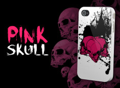 "Coque iPhone 4 ""Pink Skull"""