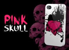 "Coque iPhone 4 ""Pink Skull"""