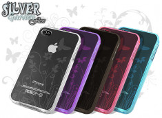 Coque iPhone 4/4S Silver Garden Flex