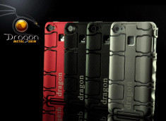 Coque iPhone 4 Dragon Metal Skin