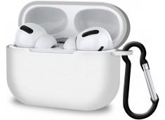Pochette Silicone for Airpod 3 avec Crochet -Blanc