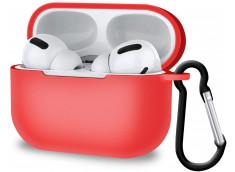 Pochette Silicone for Airpod 3 avec Crochet -Rouge