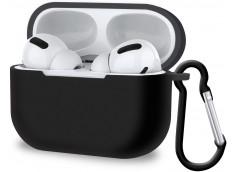 Pochette Silicone for Airpod 3 avec Crochet -Noir