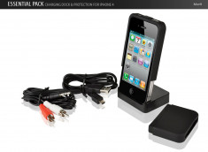 Essential Pack - Dock et Coque pour iPhone 4