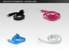 Câble Connecteur Dock vers USB Plat - iPhone 3G/S/4, iPod, iPad