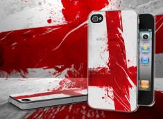 Coque iPhone 4/4S Drapeau Angleterre Grunge Translucide