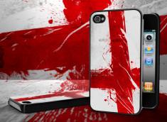 Coque iPhone 4/4S Drapeau Angleterre Grunge Noir