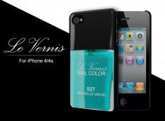 Coque iPhone 4/4S Le Vernis-Turquoise Nouvelle Vague