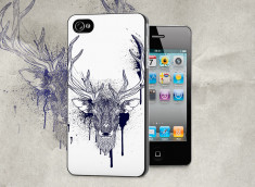 Coque iPhone 4/4S Black Deer Face