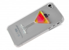 Coque iPhone 4/4S Cocktail Chic-Jaune