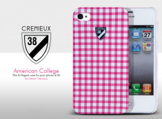 Coque iPhone 4/4S American College Vichy Case by Daniel Cremieux