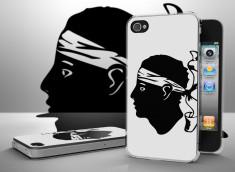 Coque iPhone 4/4S Drapeau Corse Translucide