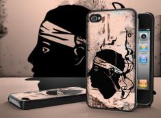 Coque iPhone 4/4S Drapeau Corse Grunge Noir