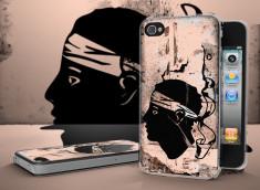 Coque iPhone 4/4S Drapeau Corse Grunge Translucide