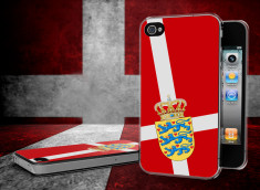 Coque iPhone 4/4S Drapeau Danemark Translucide