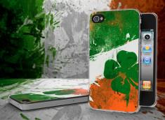 Coque iPhone 4/4S Drapeau Irlande Grunge Translucide
