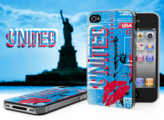 Coque iPhone 4/4S Lips Flag - USA
