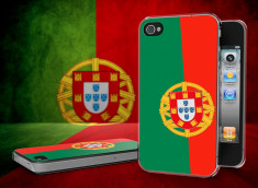 Coque iPhone 4/4S Drapeau Portugal Translucide
