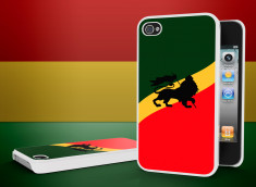Coque iPhone 4/4S Rastafari-Blanc