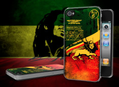 Coque iPhone 4/4S Rastafari Grunge Translucide