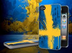 Coque iPhone 4/4S Drapeau Suede Grunge Translucide