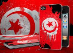 Coque iPhone 4 Drapeau Tunisie Grunge Translucide