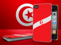 Coque iPhone 4/4S Drapeau Tunisie Translucide
