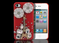 Coque iPhone 4/4S Paris On Flowers