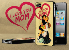 Coque iPhone 4/4S Vintage Case - Love Mom