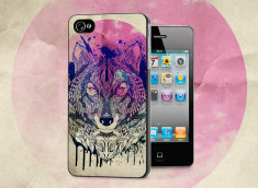 Coque iPhone 4/4S Wolf Face