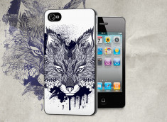 Coque iPhone 4/4S Black Fox Face
