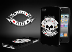 Coque iPhone 4/4S Skull Poker