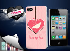 Coque iPhone 4/4S Saint Valentin 2014 - Time for Love