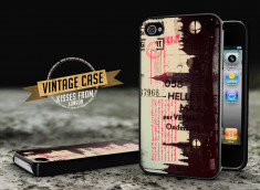 Coque iPhone 4/4S Vintage Case - Kisses from London