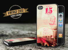 Coque iPhone 4/4S Vintage Case - Paris Brume