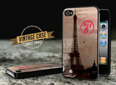 Coque iPhone 4/4S Vintage Case - Sweet Paris