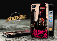 Coque iPhone 4/4S Vintage Case - Times Square